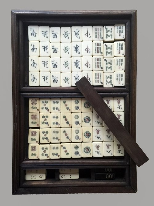 Vintage small Boxed Mahjong Set