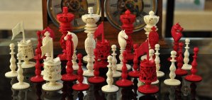 Ivory Burmese Antique Chess Set, Type II