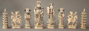 Antique Chinese Deity Chess Set