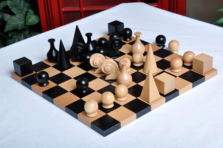man ray chess set  chessantiquescom - man ray chess set