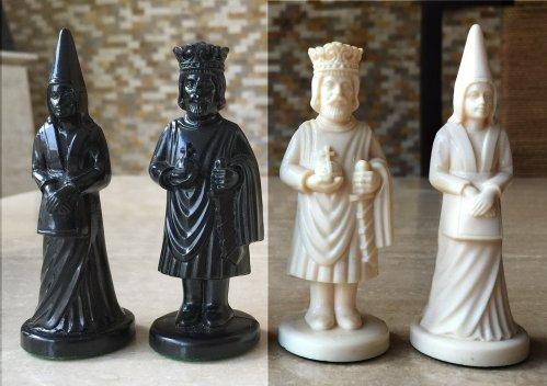 Von Furstenberg Style figural Chess Set