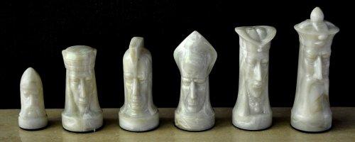 Sculptured Gothic Chess Set by Ganine