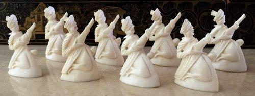 Rajasthan Monochrome Ivory Chess Set