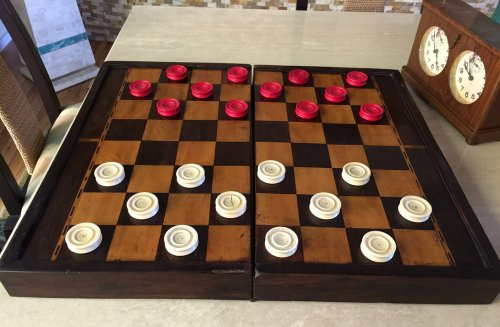 Antique Jaques Ivory Draughts