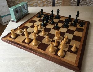 William Pinney War Model Antique Chess Set