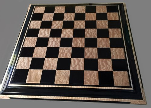 Ebony and Popcorn Maple Signature Chessboard