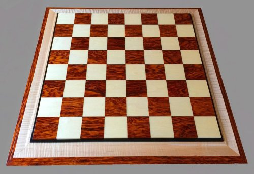 Bird's-Eye Maple and Bloodwood Signature Chessboard