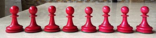 Antique Hybrid Bone Staunton Chessmen