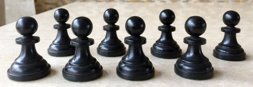 Antique Hallett of Holborne Chessmen