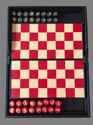 Magnetic Leather Travel Chess Set