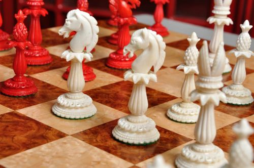Lund Anglo-Indian Reproduction Bone Chessmen