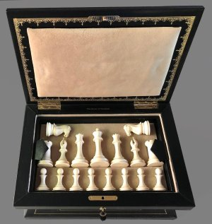 Natural Mammoth Staunton Chessmen