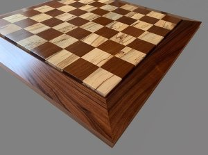 Spalted Maple, East Indian Rosewood and Cocobolo Premium Chessboard