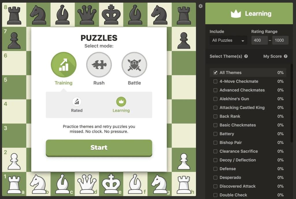 chess.com tactics learning mode