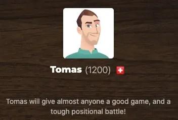 Tomas chess bot.