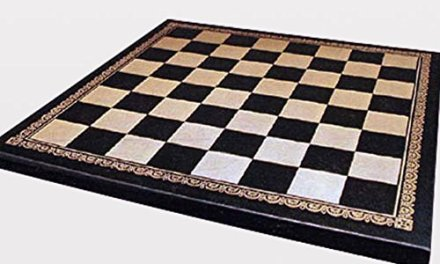 Ital Fama 13-inch Pressed Leather Chess Board