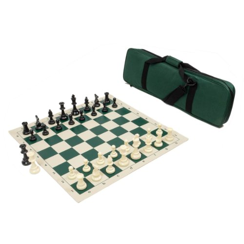 Heavy Tournament Triple Weighted Chess Set Combo – Forest Green