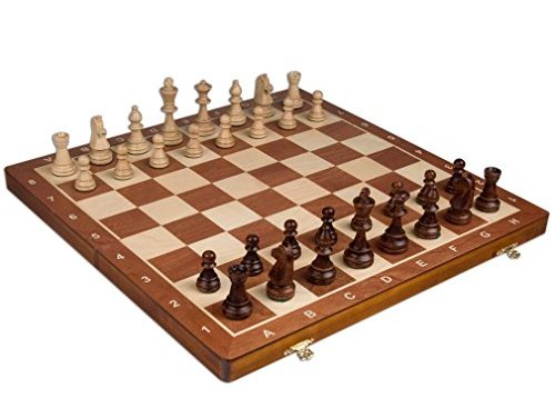 Chess Set – Tournament Staunton Complete No. 6 Board Game – Hand Made European 21″x 21″ Set