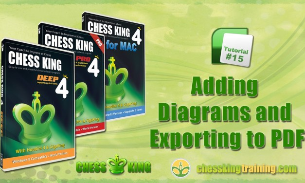 Chess King 4 Tutorial 15 – Diagrams and Export to PDF in Chess King 4 for PC/Mac