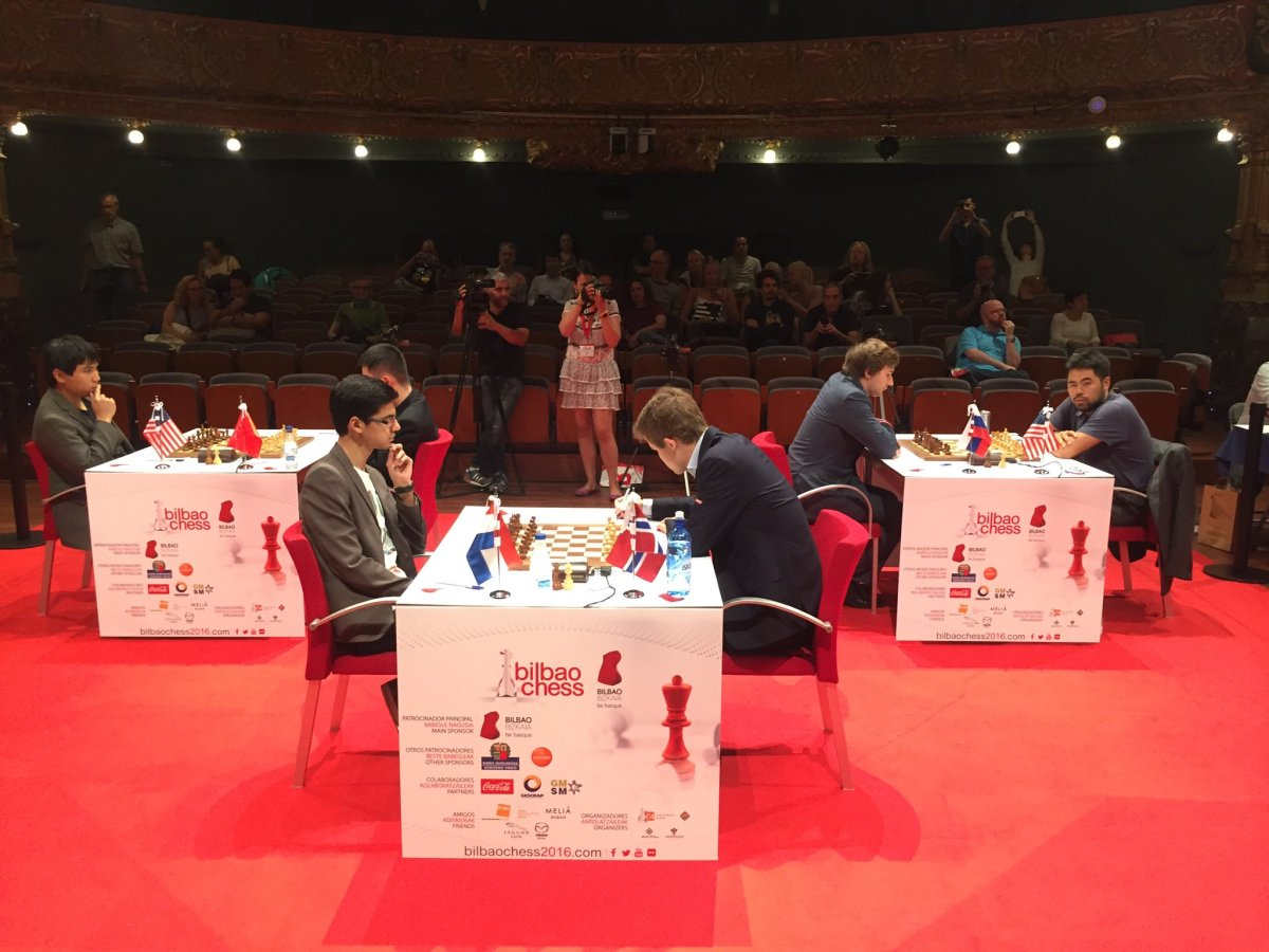 Carlsen Finally Defeats Giri in a Classical Game in Round 9 Bilbao Masters Final 2016