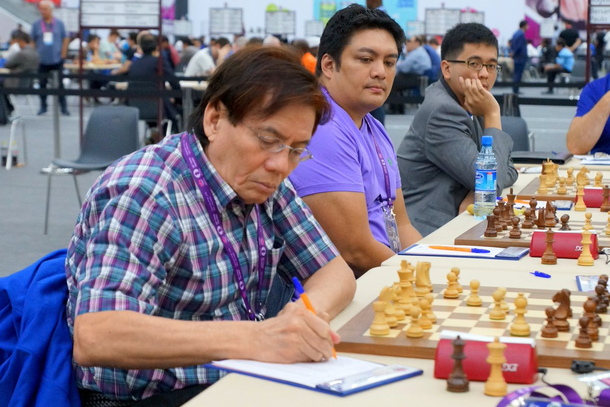 Philippines vs. Nigeria; Round 3 – Baku 2016 Chess Olympiad (Open)