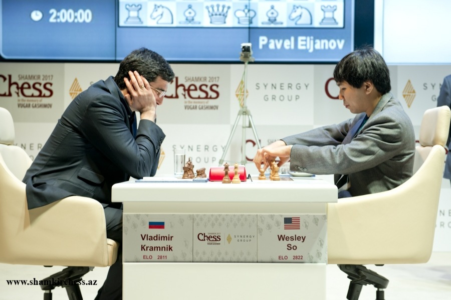 Wesley So Beats Kramnik in Round 5 Shamkir Chess 2017