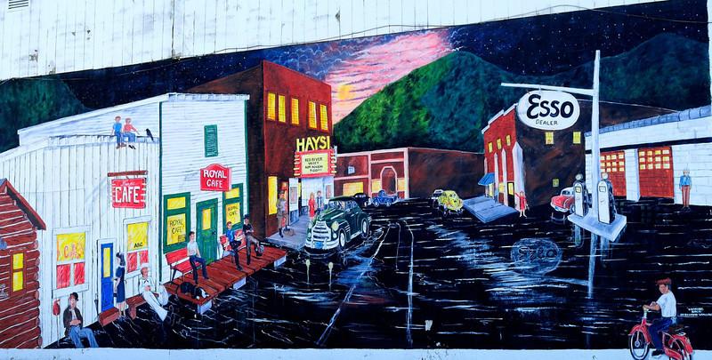 Mural in Haysi VA.