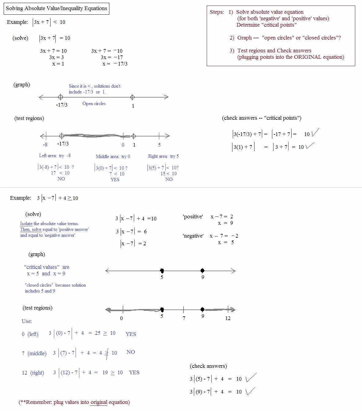 50 Absolute Value Inequalities Worksheet Answers