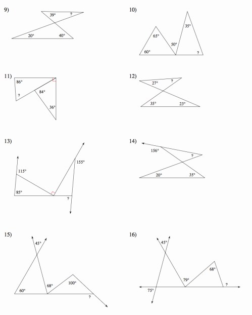 small resolution of Angle Relationships To Solve Worksheet   Printable Worksheets and  Activities for Teachers