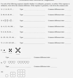 Easy Arithmetic Sequence Worksheet   Printable Worksheets and Activities  for Teachers [ 1600 x 1318 Pixel ]