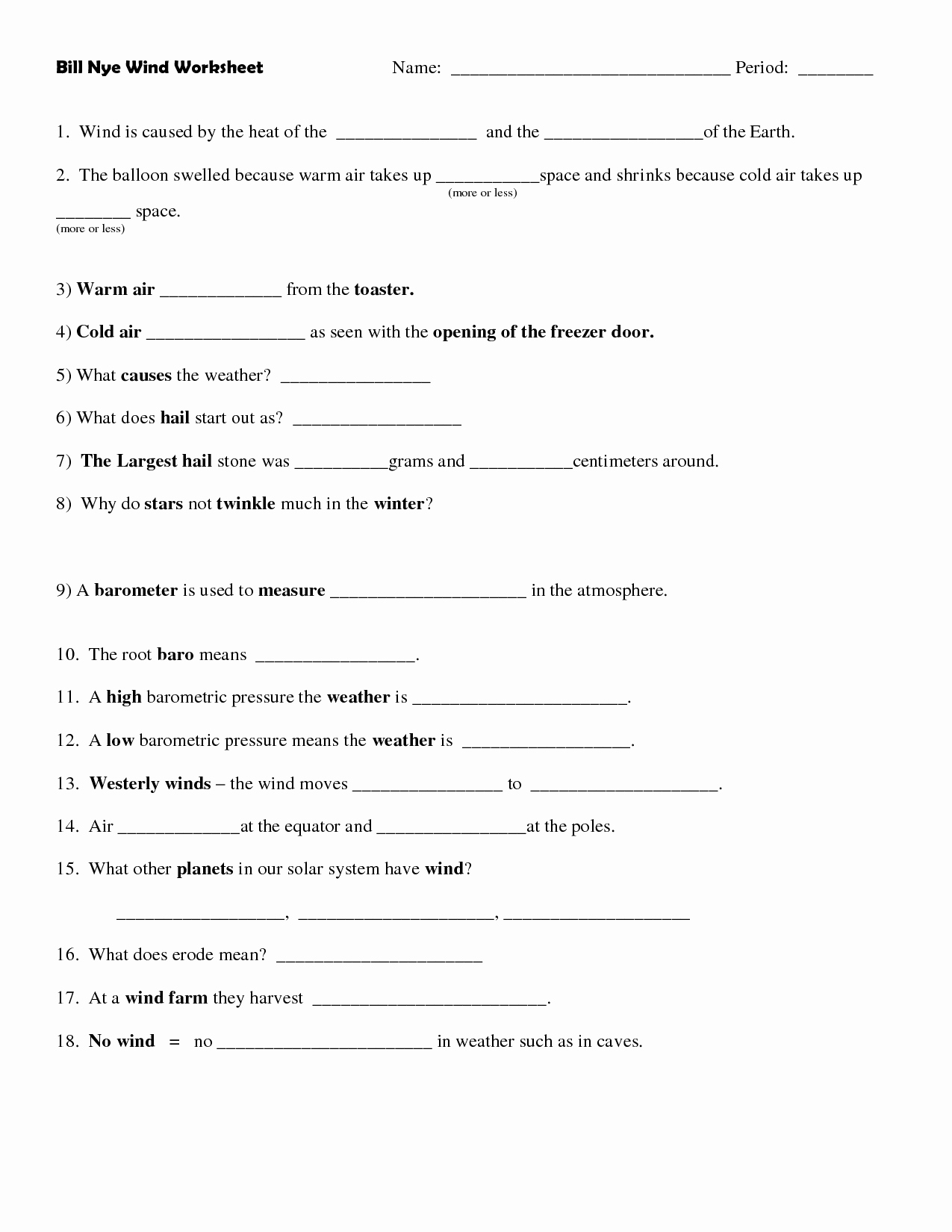 50 Bill Nye Atoms Worksheet Answers