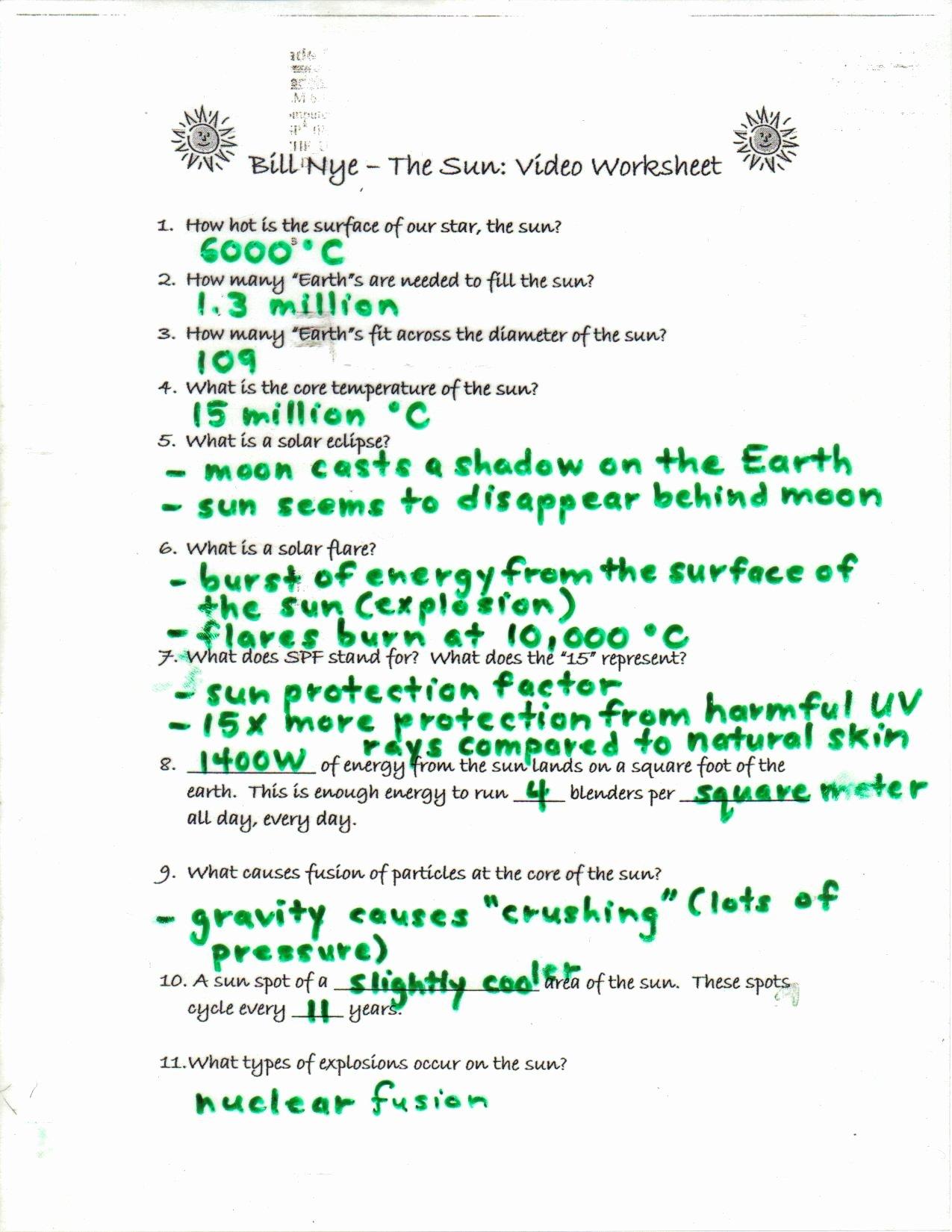 50 Bill Nye Motion Worksheet