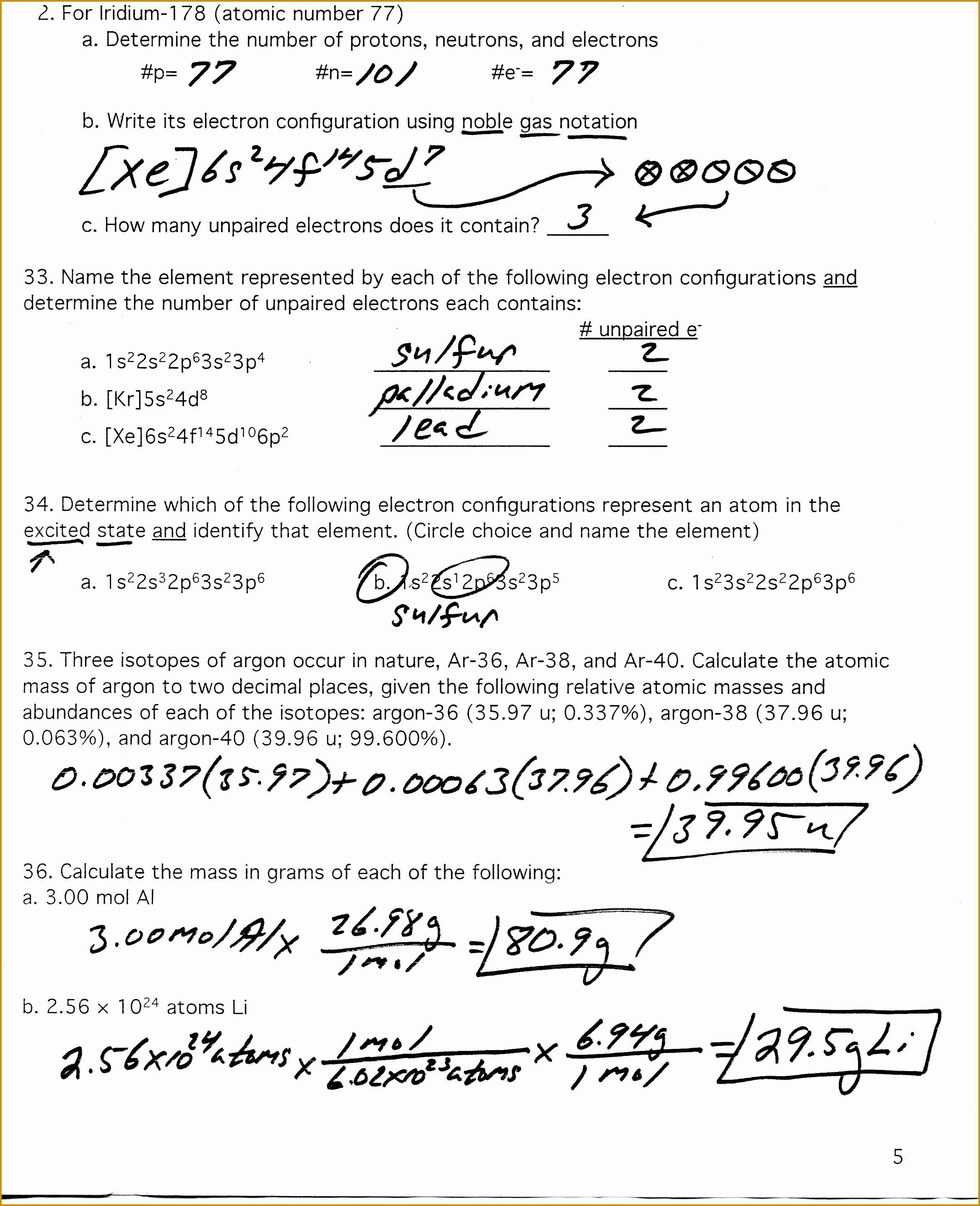 50 Calculating Average Atomic Mass Worksheet