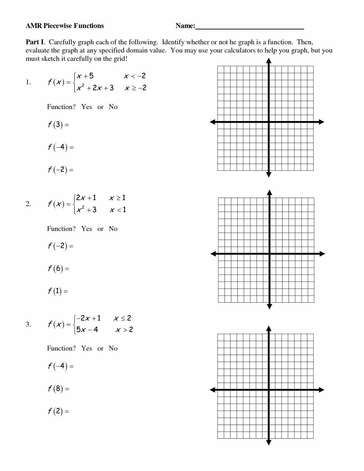 50 Characteristics Of Functions Worksheet
