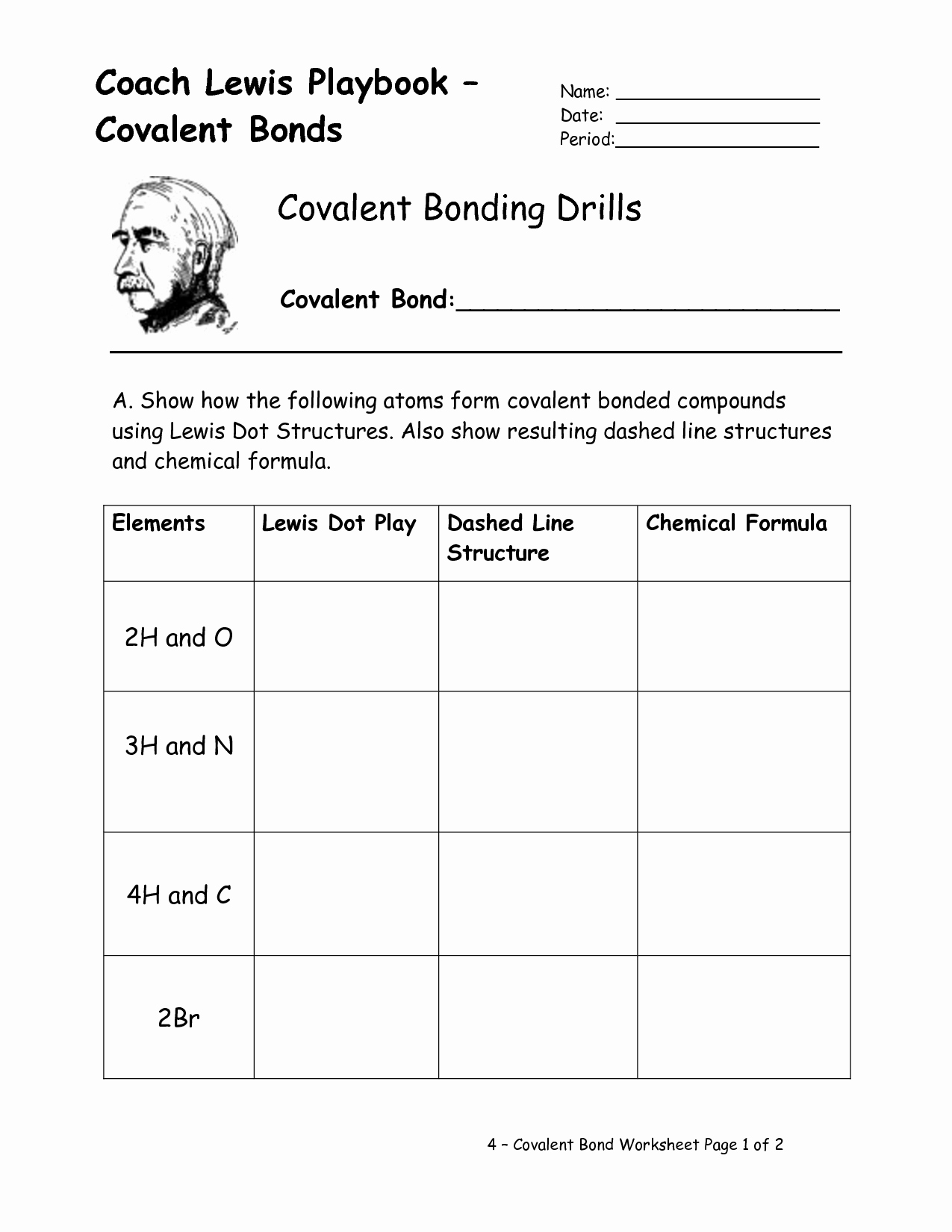 50 Chemical Bonding Worksheet Answer Key