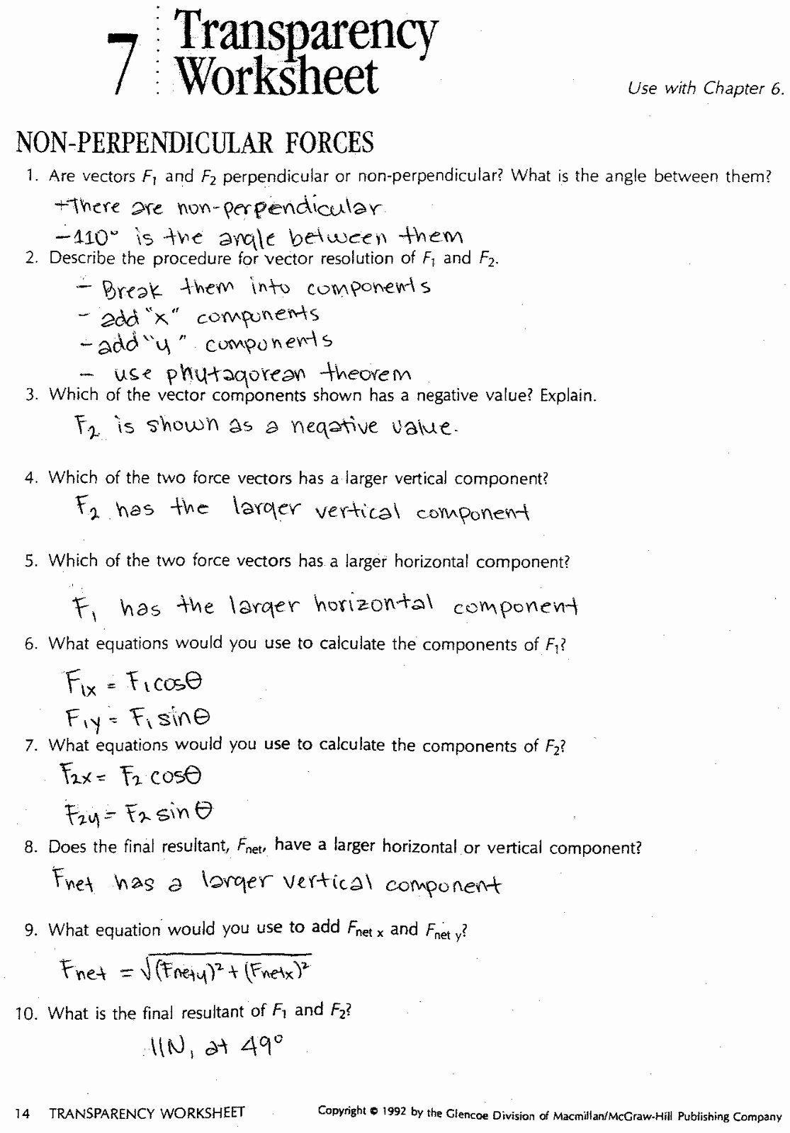 50 Coefficient Of Friction Worksheet Answers