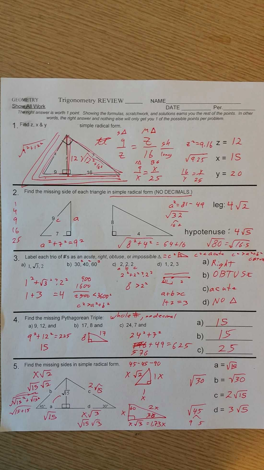 50 Congruent Triangles Worksheet With Answers