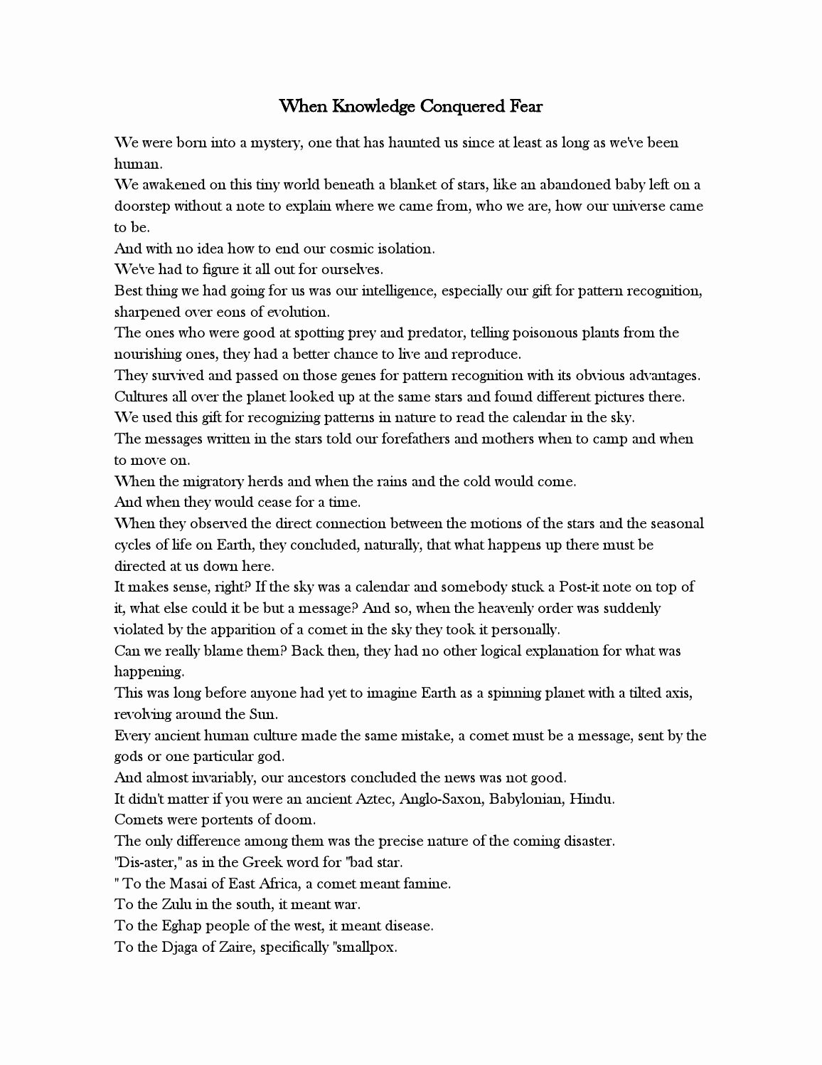 50 Cosmos Episode 1 Worksheet Answers