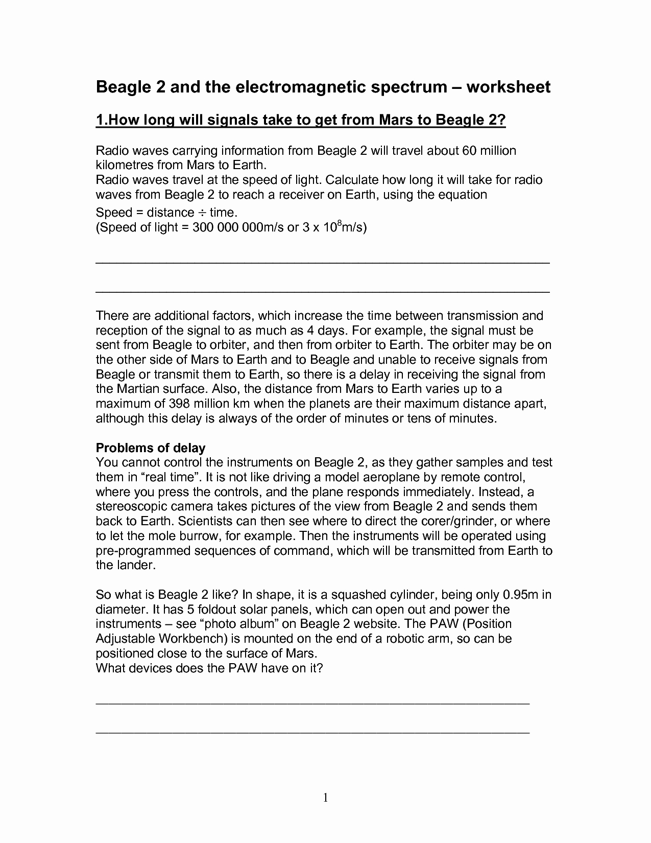 50 Electromagnetic Spectrum Worksheet High School