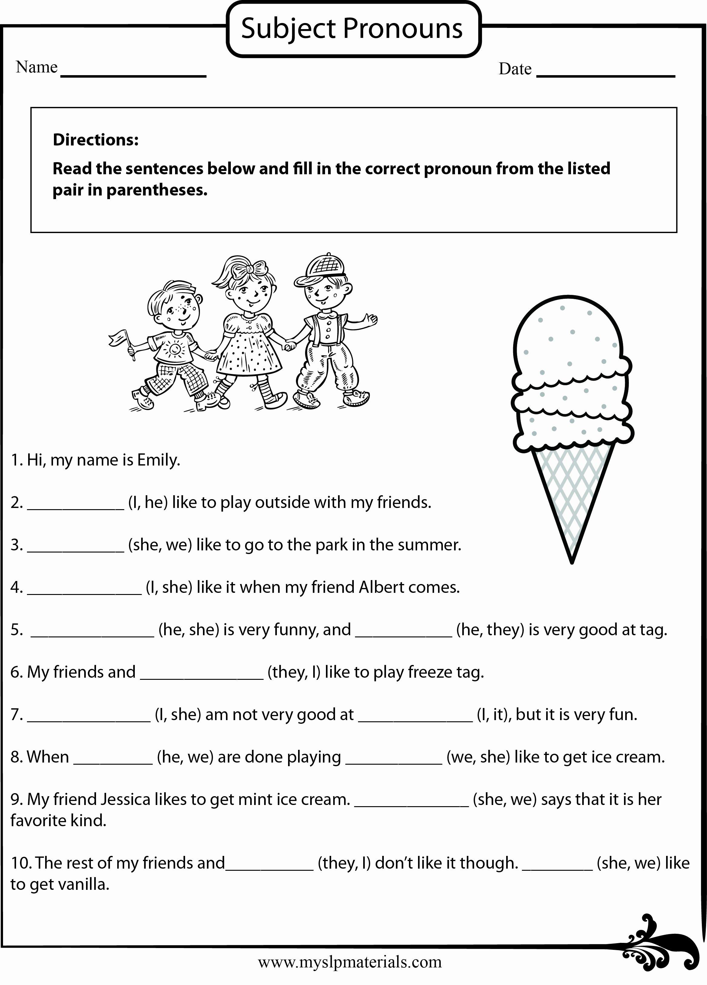 50 English Worksheet For Grade 2