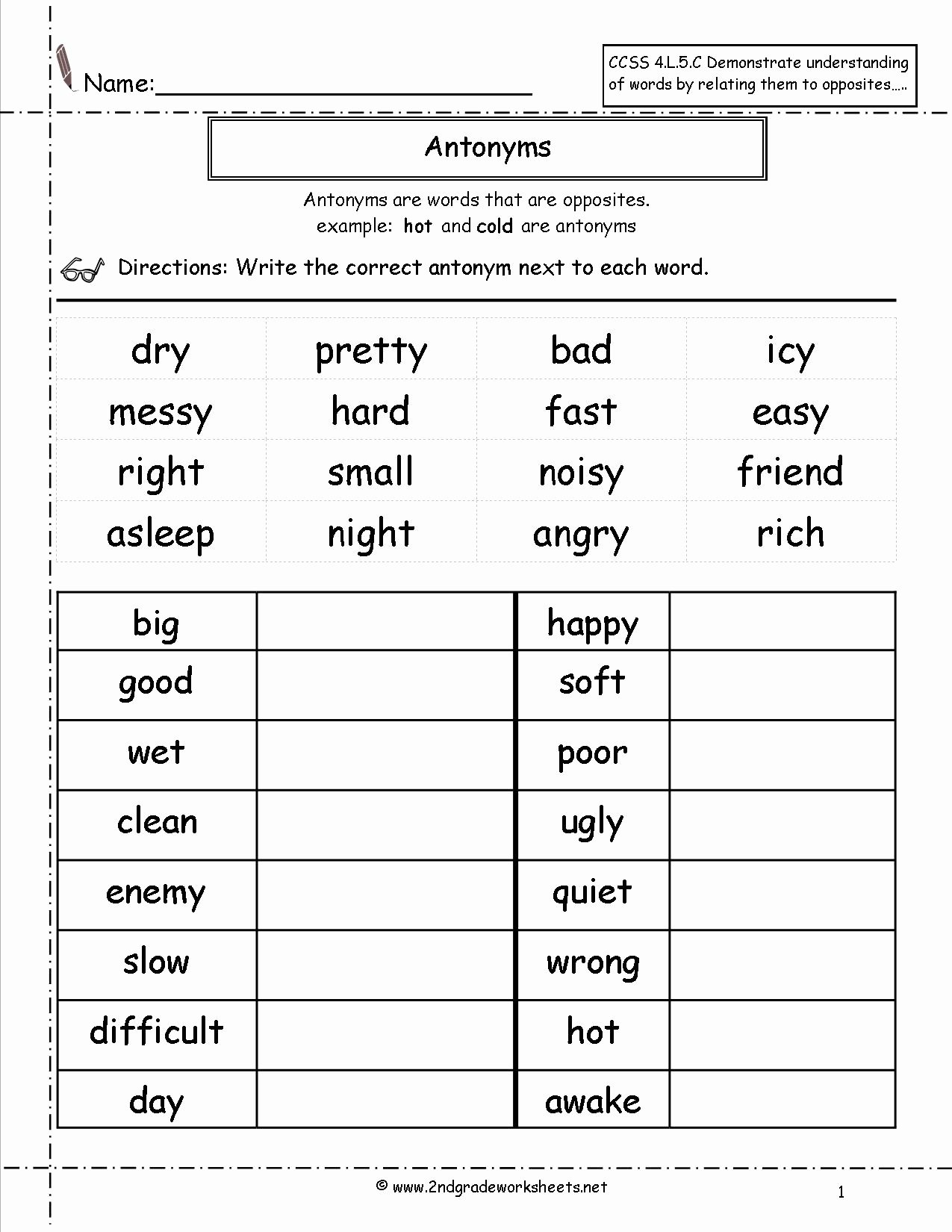 50 English Worksheet For Grade 2