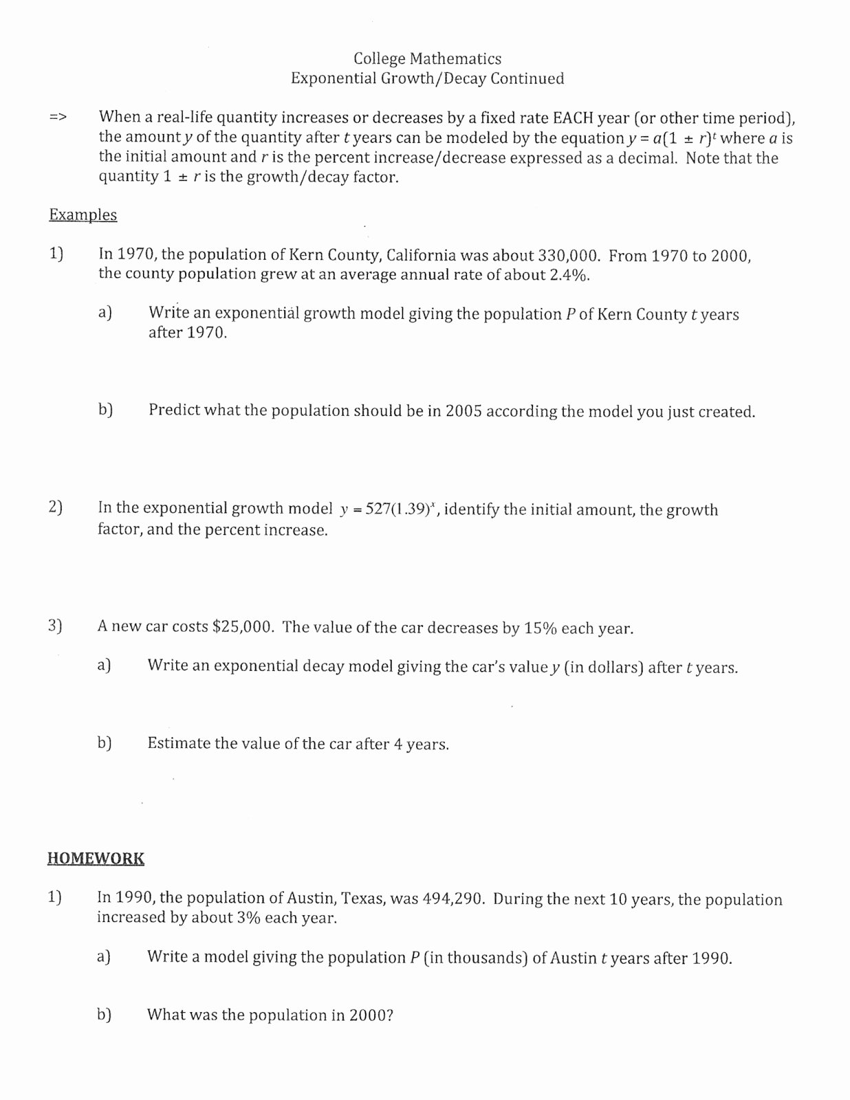 50 Exponential Functions Worksheet Answers