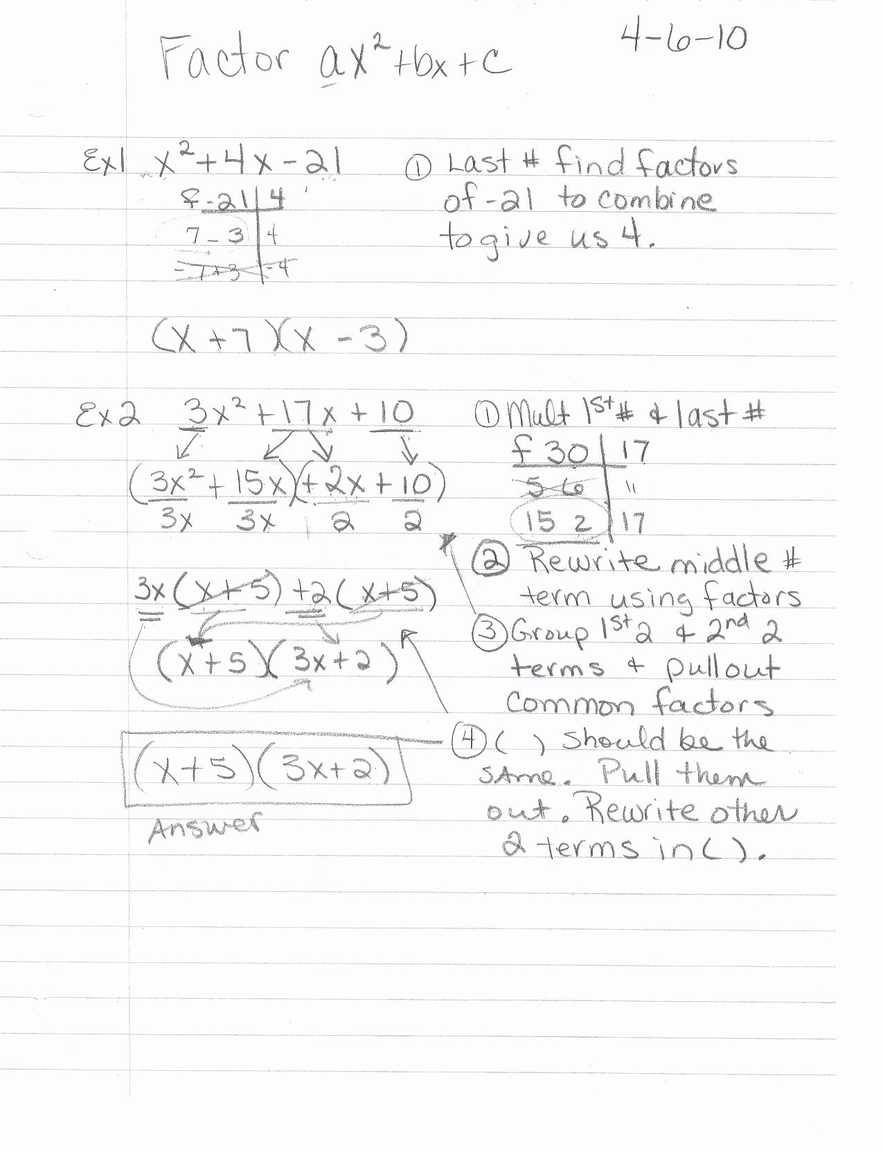 50 Factoring Ax2 Bx C Worksheet