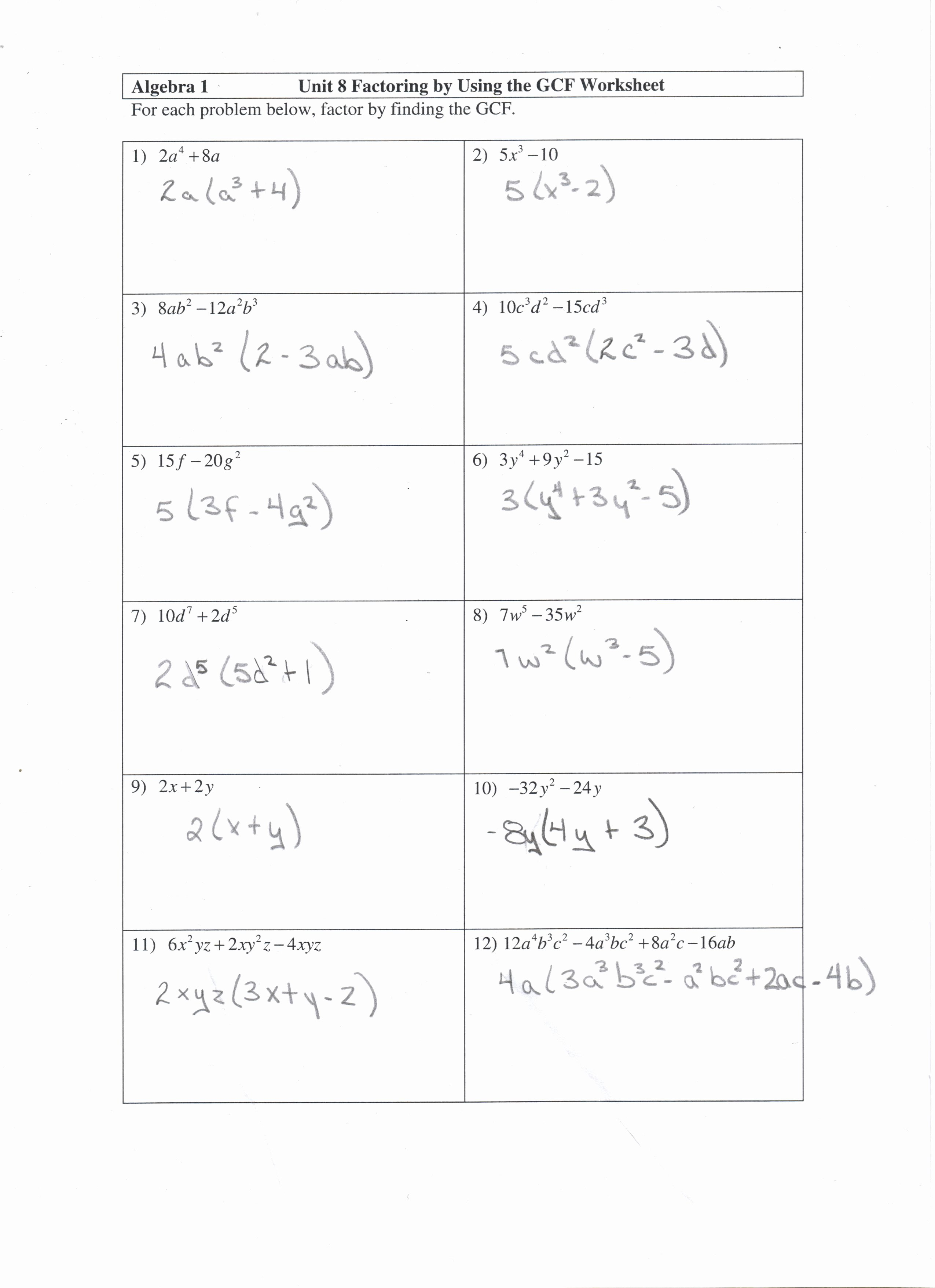 50 Factoring Distributive Property Worksheet