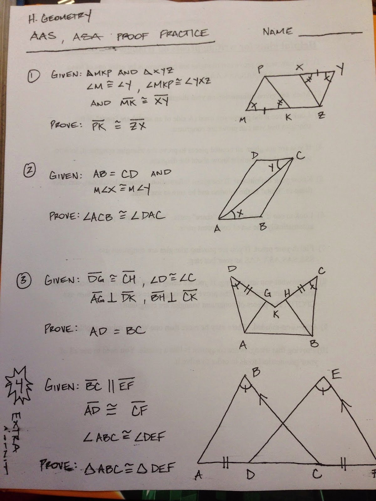 50 Geometry Proof Practice Worksheet