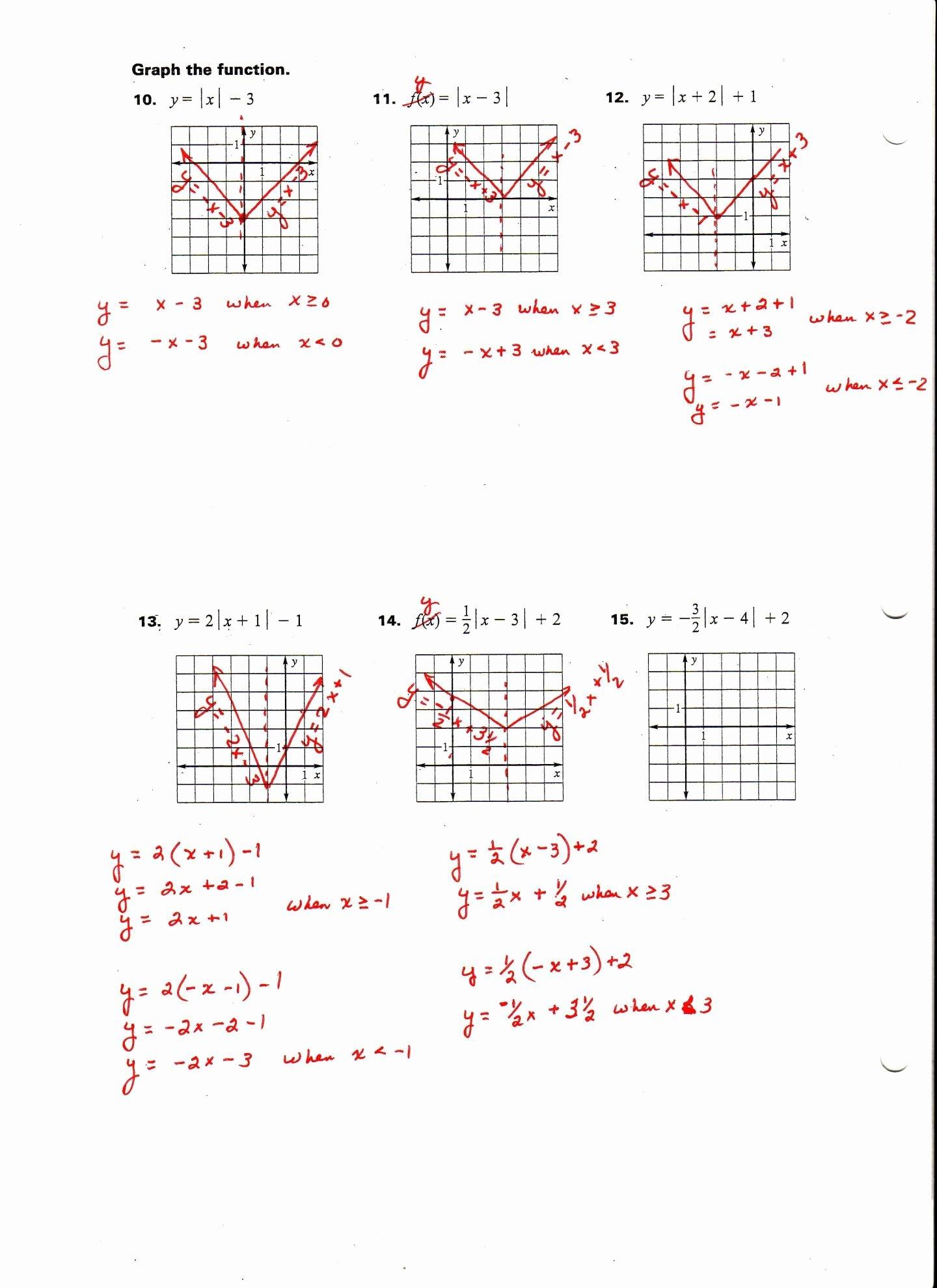 Graphing Absolute Value Inequalities Worksheet Fresh