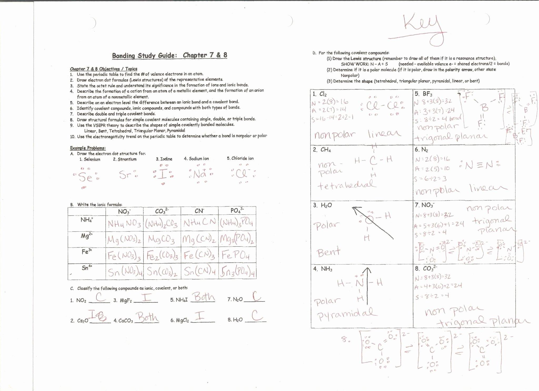 50 Ionic Bonding Worksheet Answers