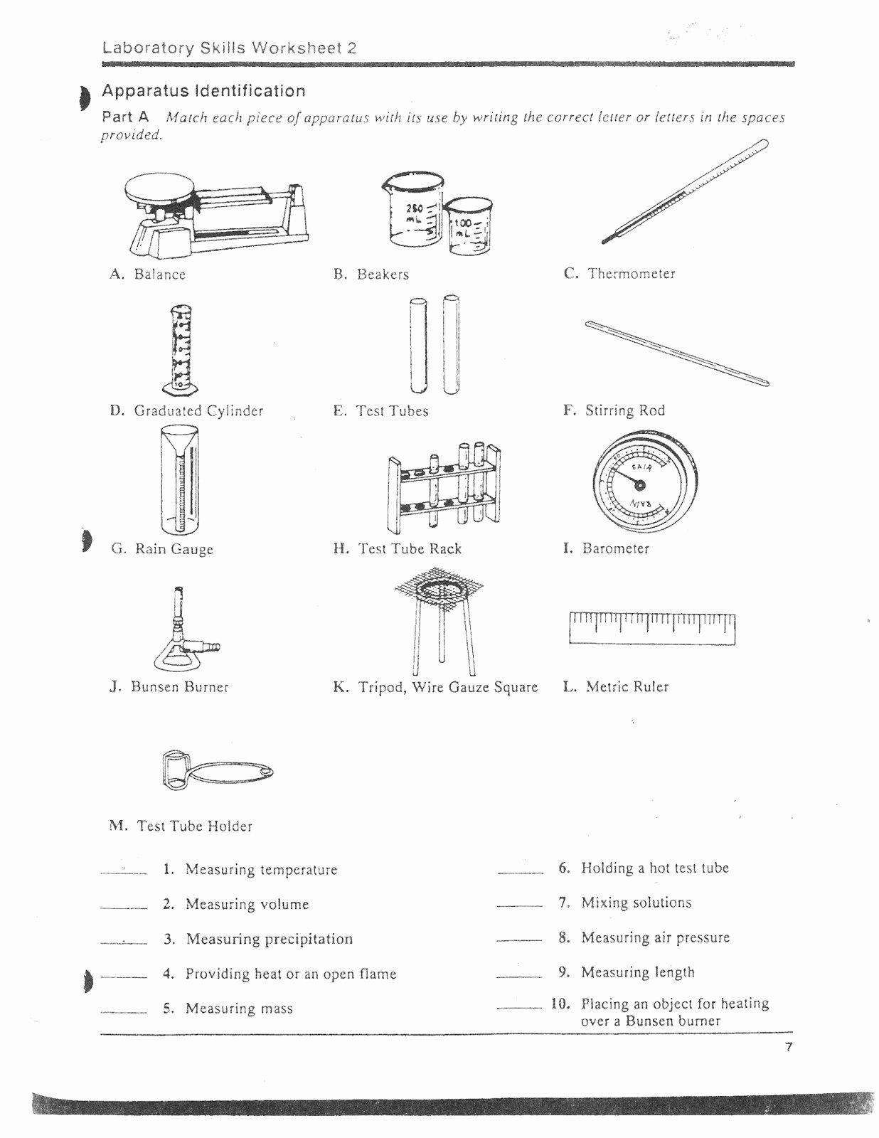 50 Lab Equipment Worksheet Answers