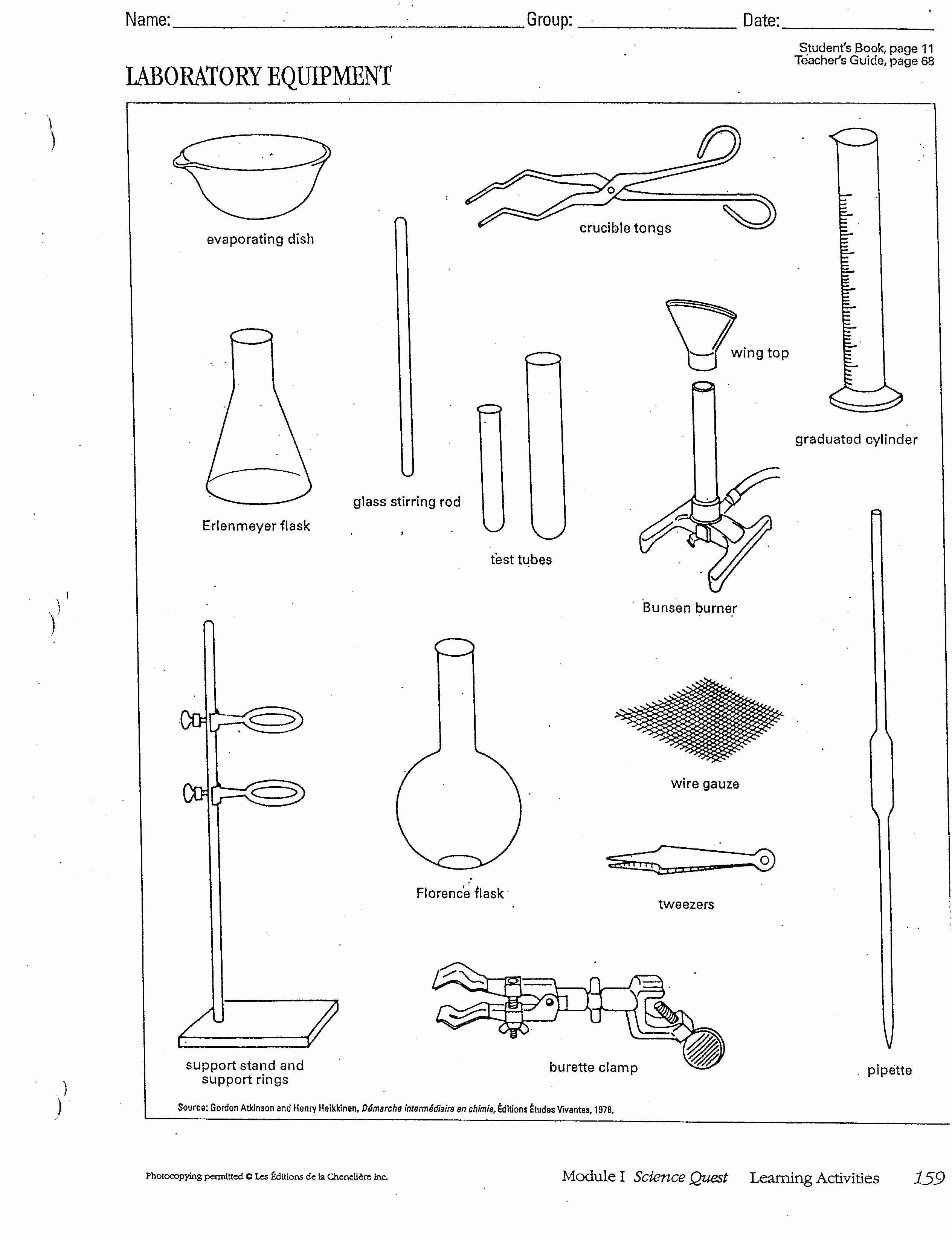 50 Lab Safety Worksheet