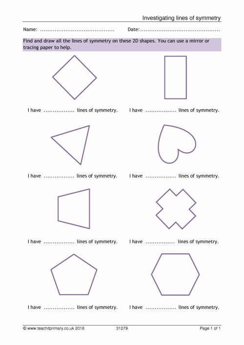 small resolution of Drawing Lines Of Symmetry Worksheet   Printable Worksheets and Activities  for Teachers